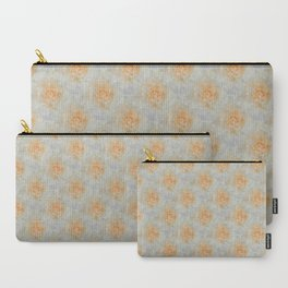 Flowering Cabbage in Coral Carry-All Pouch