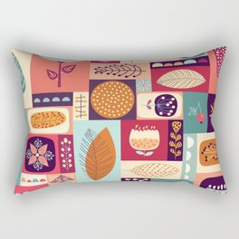 autumnal decorative background with seasonal elements Rectangular Pillow