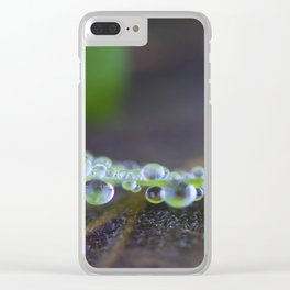 Pearls of rain Clear iPhone Case