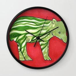 Baby Tapir-melon Wall Clock