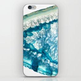 Whale agate slice iPhone Skin