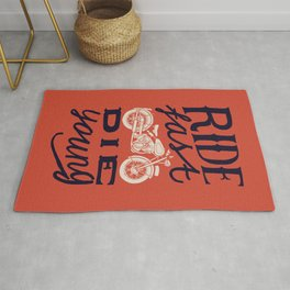 Ride fast - die young Rug
