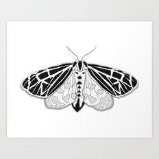 Virgin Tiger Moth Art Print