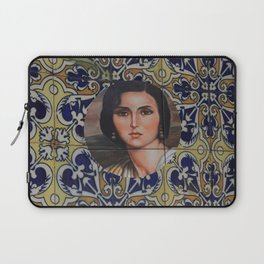 Spain 46 - Woman in Madrid with mosaic on the wall Laptop Sleeve