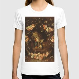 """Jan van Kessel """"Madonna with the Child Framed with a Garland of Flowers"""" T-shirt"""