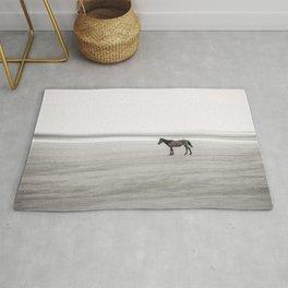 Horse a la playa Rug