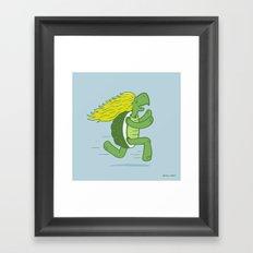 Tortoise and that Hair Framed Art Print
