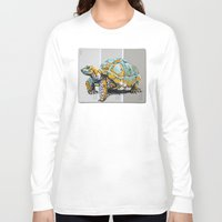 tortoise Long Sleeve T-shirts featuring Tortoise by aceta