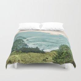Oregon Coast Sunrise in Simplified Color Duvet Cover