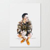 kendrick lamar Canvas Prints featuring Kendrick Lamar by Aleksandra Stanglewicz