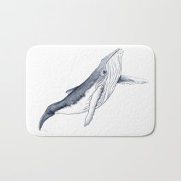 Baby humpback whale for children kid baby Bath Mat