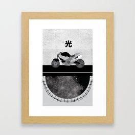 Bike (Light) Framed Art Print