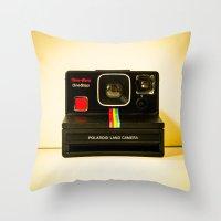 polaroid Throw Pillows featuring Polaroid by Sydney S Photography
