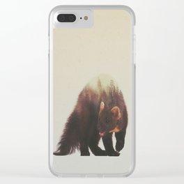 Veluwe V2: Pine Marten Clear iPhone Case