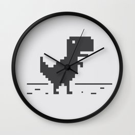 Google Chrome's Dino Wall Clock