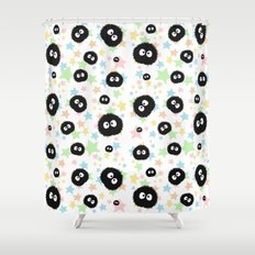 Soot Sprite with stars Shower Curtain