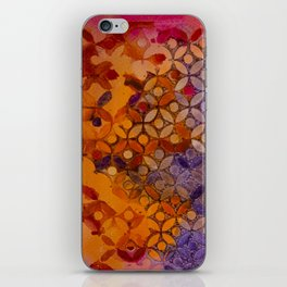 a piece of orange pink and purple iPhone Skin