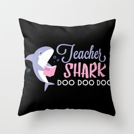 Teacher Shark Throw Pillow