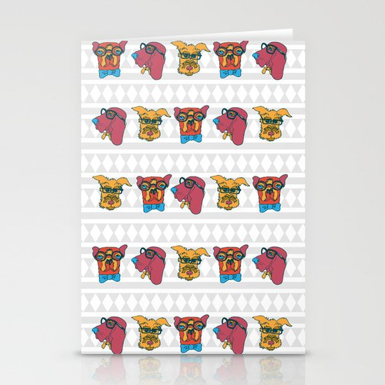 Geek Chic Dogs Stationery Cards