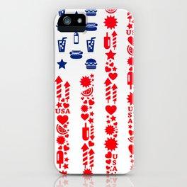 Fourth Of July Celebration USA Flag iPhone Case