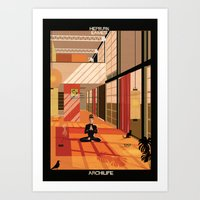 hepburn Art Prints featuring Hepburn Eames by federico babina