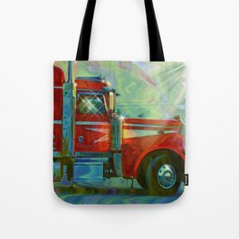 The Trucker - Red Lorry Artwork Tote Bag