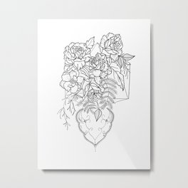 To Love is to Bury Metal Print