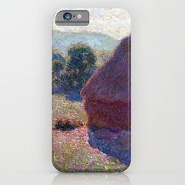 Claude Monet Meules, Milieu du Jour (Haystacks, Midday) iPhone Case