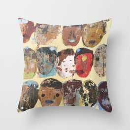 Folks Aware Throw Pillow