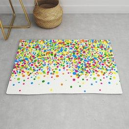 Rain of colorful confetti Rug