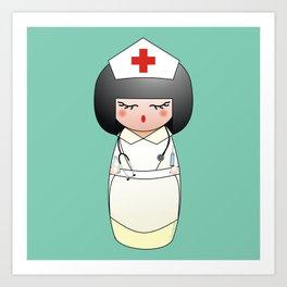 Kokeshi Nurse Art Print