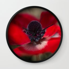 Crimson Flight Wall Clock