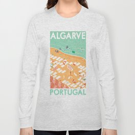 Travel Posters - Algarve Long Sleeve T-shirt