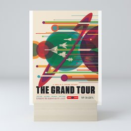 NASA Visions of the Future - The Grand Tour, a Once in a Lifetime Getaway Mini Art Print