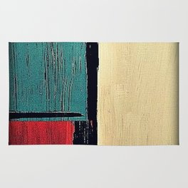 minimal painting, colours abstract bright Rug
