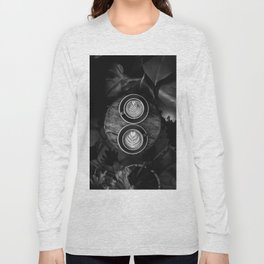 Coffees (Black and White) Long Sleeve T-shirt