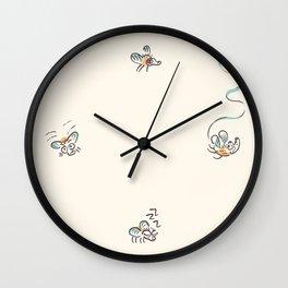 Fly Meeting Wall Clock