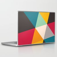 triangles Laptop & iPad Skins featuring Triangles by Gary Andrew Clarke