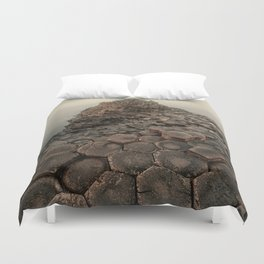 Sunny morning in Giant's Causeway Duvet Cover