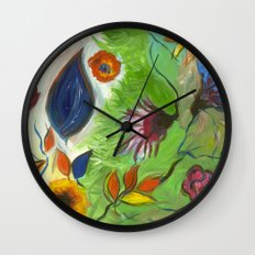 Flower Swirls Wall Clock