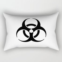 International Biological Hazard Symbol Black Rectangular Pillow
