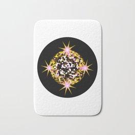 Yellow Pink Blinking Star Bath Mat