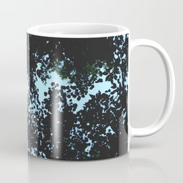 Tops of the leaves of trees silhouettes Coffee Mug