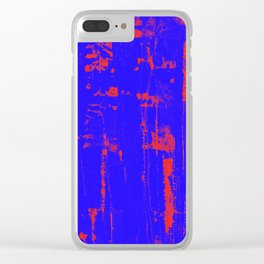 Distressed Grunge 102 Clear iPhone Case