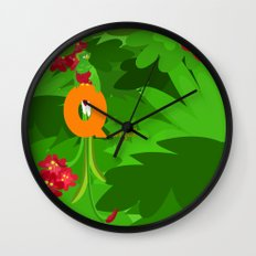 q for quetzal Wall Clock