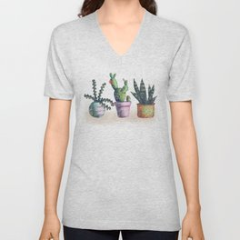 Cacti for cactuslovers Unisex V-Neck