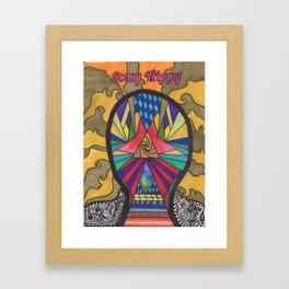 Hand drawn- Lost In A Trip Framed Art Print