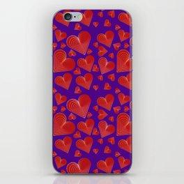 Hearts-001 iPhone Skin