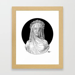 Vestigial Veiled Lady Framed Art Print