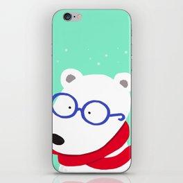 Hipster Polar Bear iPhone Skin
